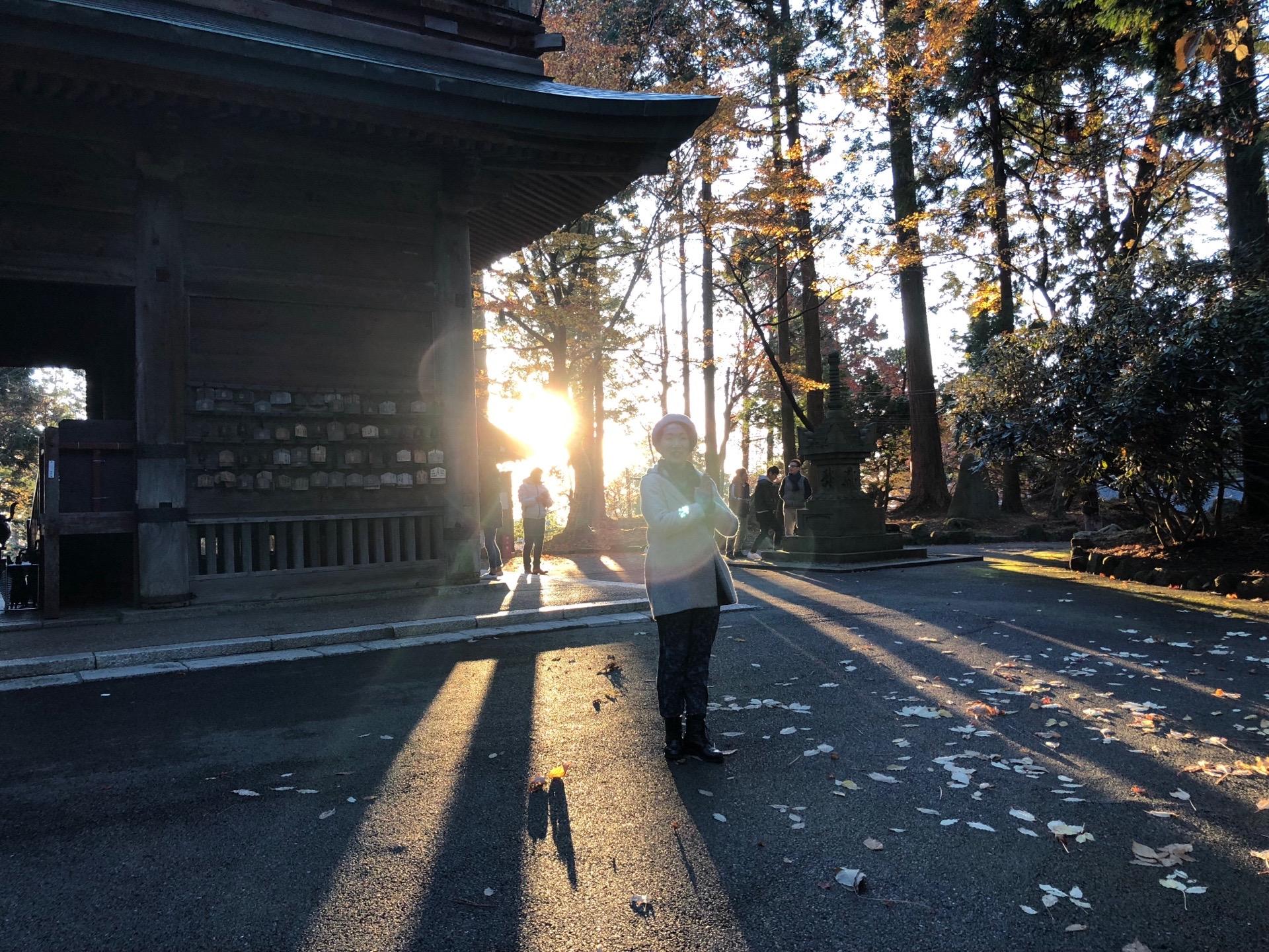 比叡山の朝日