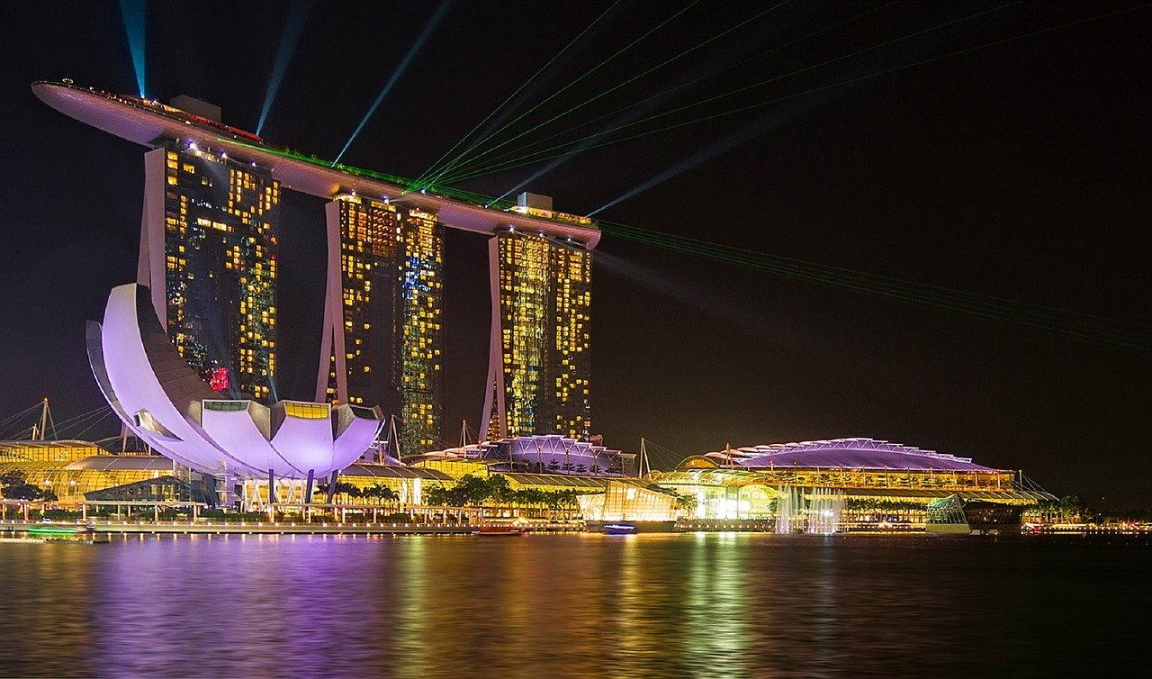 シンガポール レーザーショー